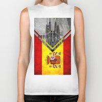 spain Biker Tanks featuring Flags - Spain by Ale Ibanez