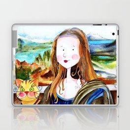 Mona Luisa and cat Leo Laptop & iPad Skin