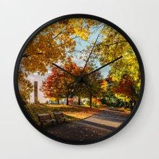 Crazy Fall Wall Clock