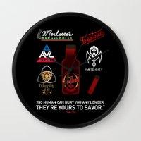 true blood Wall Clocks featuring True Blood Logos by CLM Design