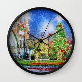 Home Town Christmas Wall Clock