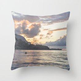Sunset at Hanalei Bay, No. 3 Throw Pillow