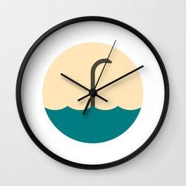 Nessie, the umbrella monster Wall Clock