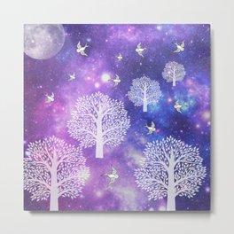 Space Trees Metal Print