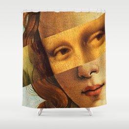 Leonardo's Mona Lisa & Botticelli's Venus Shower Curtain