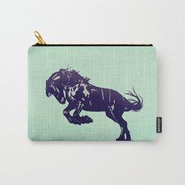 Dark Blue Stallion Carry-All Pouch