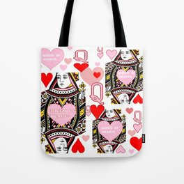 RED &  PINK QUEEN OF HEARTS CASINO ART Tote Bag