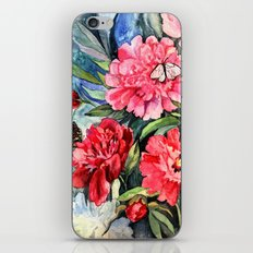 watercolor peonies iPhone & iPod Skin