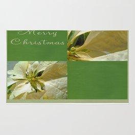 Pale Yellow Poinsettia 1 Merry Christmas Q5F1 Rug