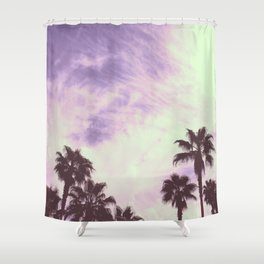 Palm Trees Over Vegas Shower Curtain