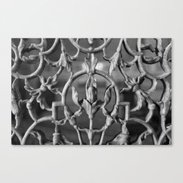 Black and white marble wallaper Canvas Print