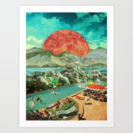 The aquarium pool Art Print