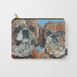 Shih Tzu Buddies Dog Portrait Carry-All Pouch