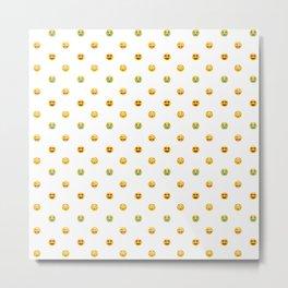 Emoji Pattern Metal Print