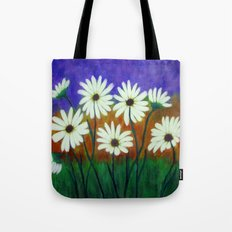 White daisies-Abstract Tote Bag