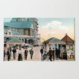 Pier Gates Llandudno Wales 1890 Rug
