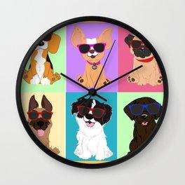 Breeds by NilseMariely, Diseños queLadran Wall Clock
