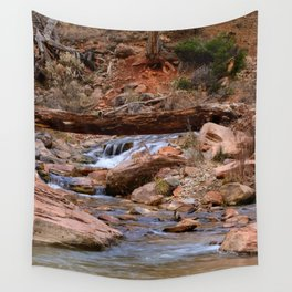Virgin_River Falls 0860 - Zion Court Wall Tapestry