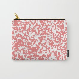 Small Spots - White and Coral Pink Carry-All Pouch