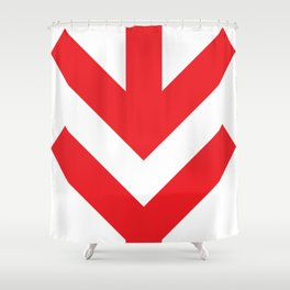 Red Arrow Down Shower Curtain