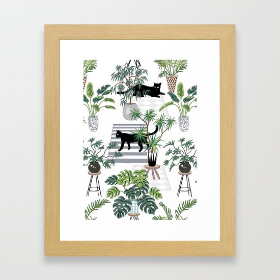cats in the interior pattern by anyuka