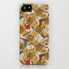 Household Tools Plaid iPhone Case