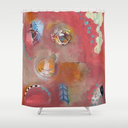 Too Pink For Comfort Shower Curtain
