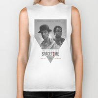 poster Biker Tanks featuring Inspector Spacetime  by Sam Spratt