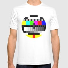 TV Mens Fitted Tee MEDIUM White