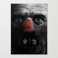 silence of the lambs Canvas Prints featuring Silence of the Lambs  by Dan K Norris