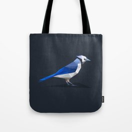 Low-poly Blue Jay Tote Bag