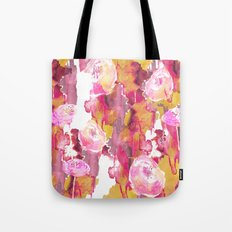 Painterly Flowers Tote Bag