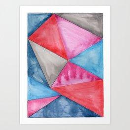 A Love Triangle Art Print