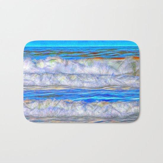 Abstract beautiful ocean waves Bath Mat