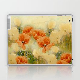 Vintage Poppies Laptop & iPad Skin
