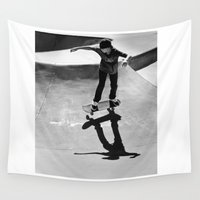 skateboard Wall Tapestries featuring Skateboard by Chiarra Mandato