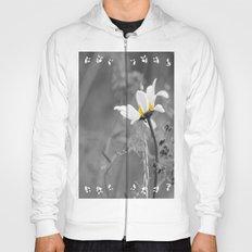 White daisy on a grey day Hoody