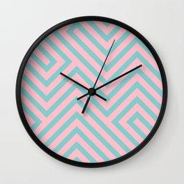 Pastel Labyrinth Wall Clock
