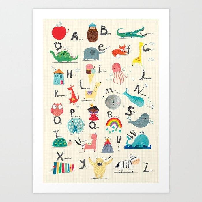 Animal Alphabet Kunstdrucke