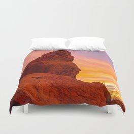 Balanced Rock Sunrise - Valley of Fire Duvet Cover