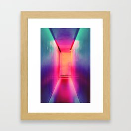 THE NEON CORRIDOR Framed Art Print