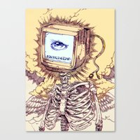 computer Canvas Prints featuring COMPUTER by Witnesstheabsurd