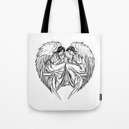 angel angels heart love valentines Tote Bag