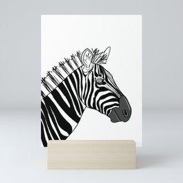 Zebra Portrait Mini Art Print