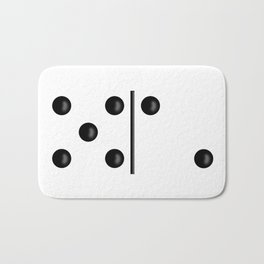 White Domino / Domino Blanco Bath Mat