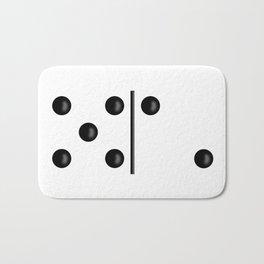 White Domino / Domino Blanco Bath Mat