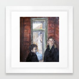 Hawthorne's Window Framed Art Print