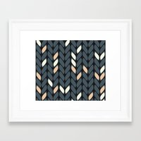 knitting Framed Art Prints featuring Knitting by hank