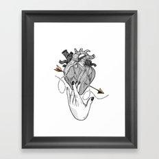 Heart & Hand Framed Art Print