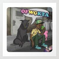 odd future Art Prints featuring Tyler, The Creator of Odd Future OFWGKTA by Donta Santistevan